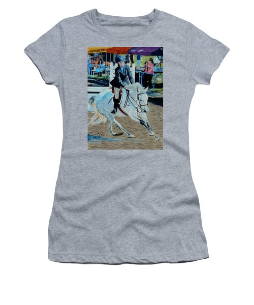Determination - Horse And Rider - Horseshow Painting Women's T-Shirt (Athletic Fit)