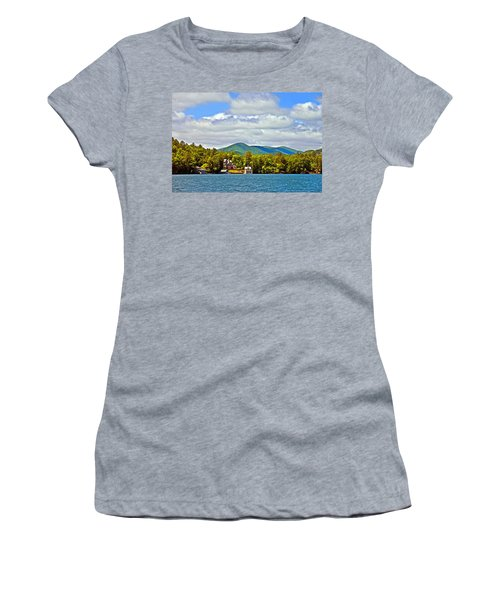 Distant Lake View In Spring Women's T-Shirt