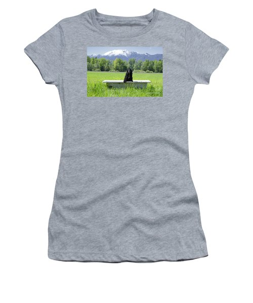 Dog In Bathtub Women's T-Shirt (Athletic Fit)