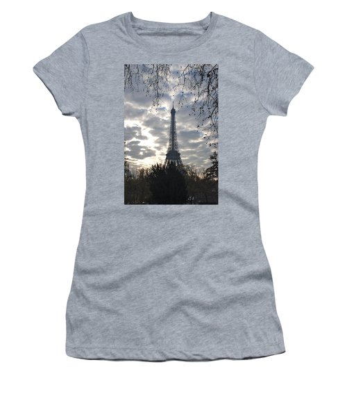 Women's T-Shirt (Junior Cut) featuring the photograph Eiffel In The Morning by Eric Tressler