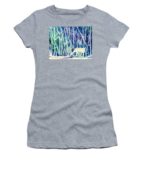 Enchanted Winter Forest Women's T-Shirt (Athletic Fit)