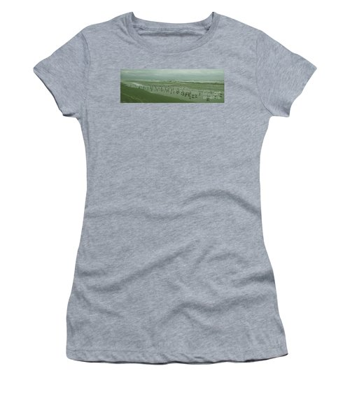 Women's T-Shirt (Junior Cut) featuring the photograph Facing The Wind by Donna Brown