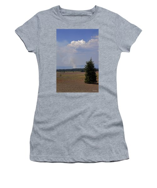 Women's T-Shirt (Junior Cut) featuring the photograph Fire In The Cascades by Mick Anderson