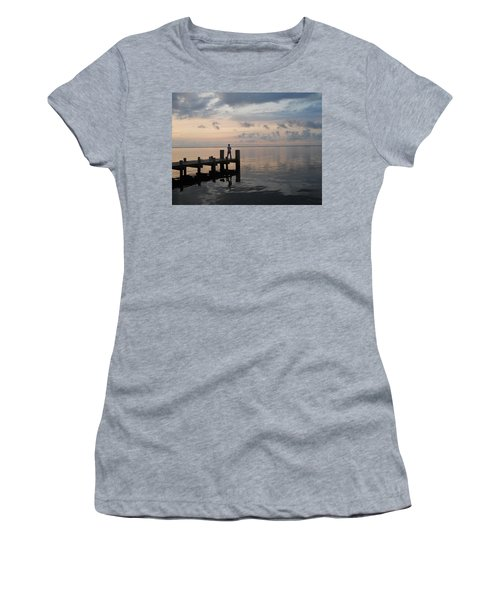 Women's T-Shirt (Junior Cut) featuring the photograph First Light by Clara Sue Beym