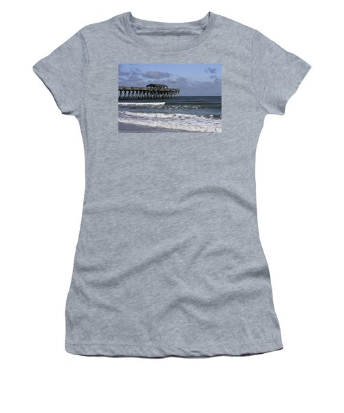 Fishing On The Pier Women's T-Shirt (Athletic Fit)