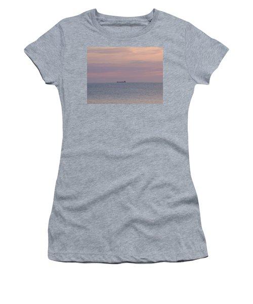 Women's T-Shirt (Junior Cut) featuring the photograph Freighter by Bonfire Photography