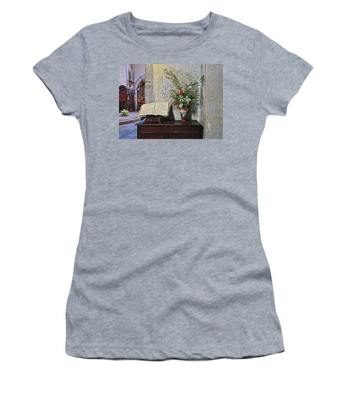 Women's T-Shirt (Junior Cut) featuring the photograph French Church Decorations by Dave Mills