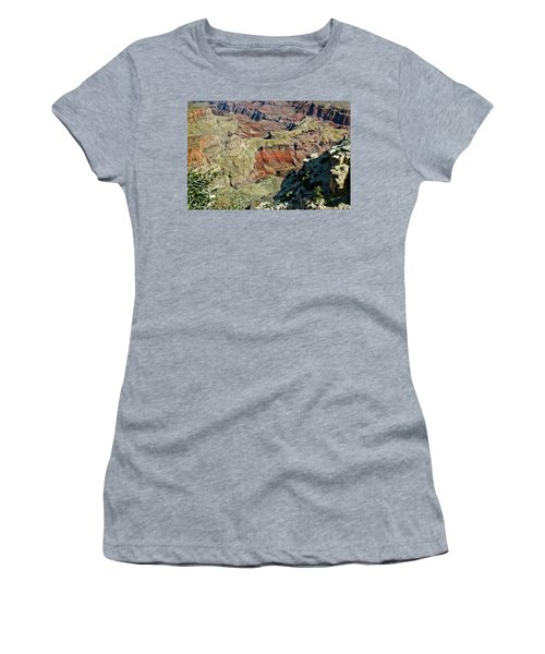 Women's T-Shirt (Junior Cut) featuring the painting From Yaki Point 6 Grand Canyon by Bob and Nadine Johnston