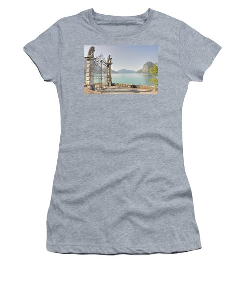 Gate On The Lake Front Women's T-Shirt (Athletic Fit)