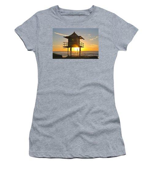 Women's T-Shirt (Junior Cut) featuring the photograph Gold Coast Life Guard Tower by Eric Tressler
