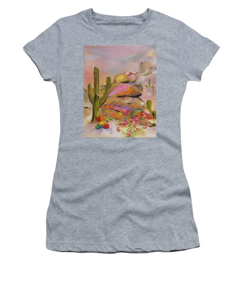 Gold-lined Rocks Women's T-Shirt (Junior Cut) by Judith Rhue