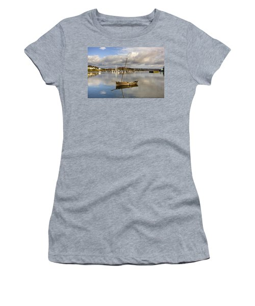 Harbour In Tarbert Scotland, Uk Women's T-Shirt (Athletic Fit)