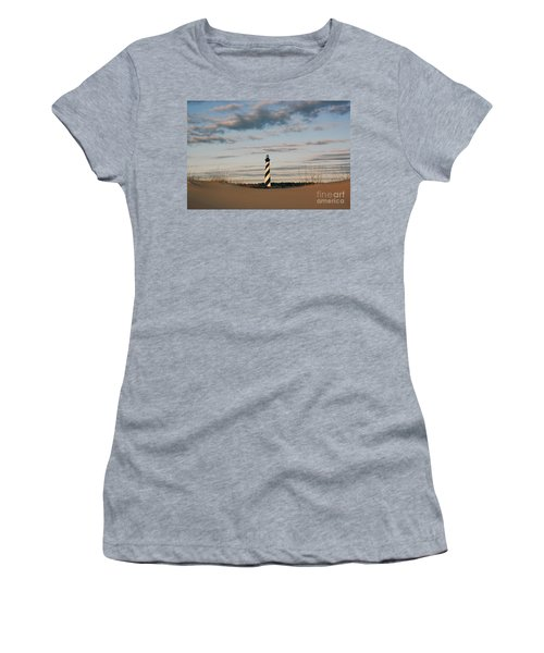 Hatteras Lighthouse And The Smiling Dune Women's T-Shirt (Athletic Fit)