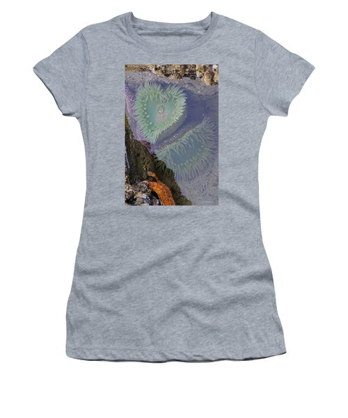 Women's T-Shirt (Junior Cut) featuring the photograph Heart Of The Tide Pool by Mick Anderson