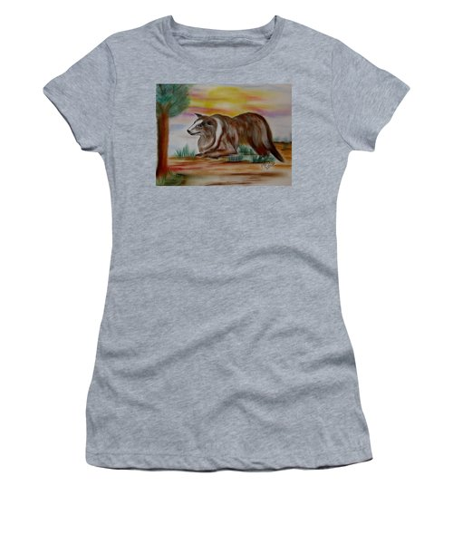 Women's T-Shirt (Junior Cut) featuring the drawing Herding Collie by Maria Urso