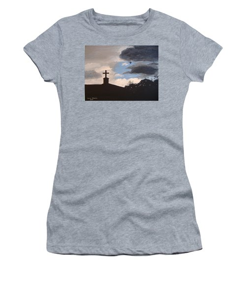 Women's T-Shirt (Junior Cut) featuring the painting Hope In The Storm by Norm Starks