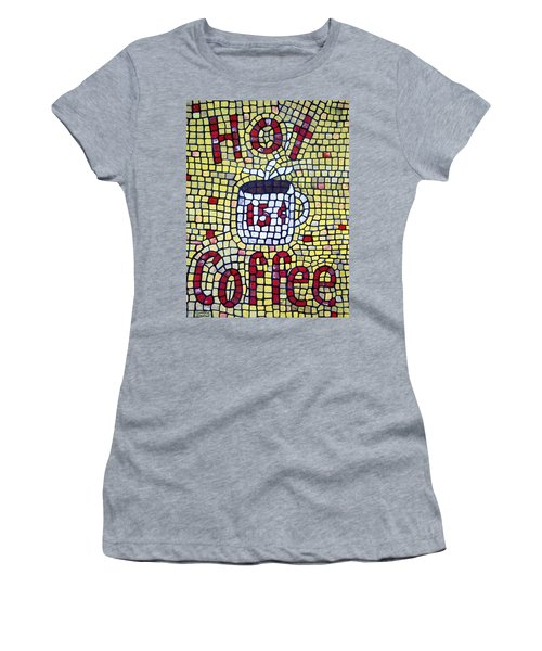 Women's T-Shirt featuring the painting Hot Coffee by Cynthia Amaral