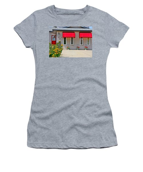 Women's T-Shirt (Junior Cut) featuring the photograph House With Red Shades. by Johanna Bruwer