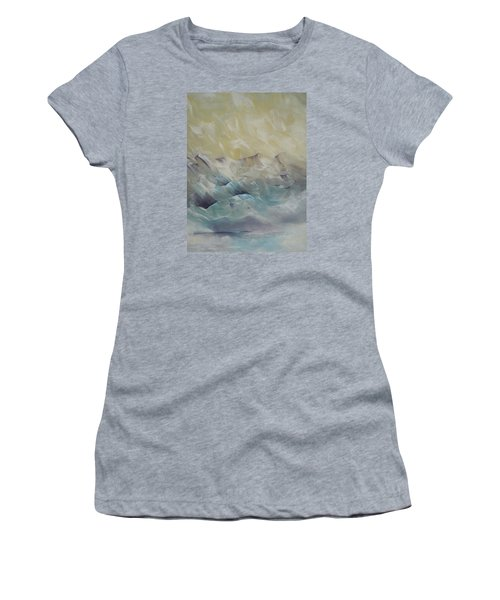 Women's T-Shirt (Junior Cut) featuring the painting I Like It When It's Cold  by Dan Whittemore