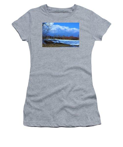 Landscape  Snow Scene Women's T-Shirt (Athletic Fit)