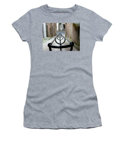 Women's T-Shirt (Junior Cut) featuring the photograph Lerwick Lanes by Lynn Bolt