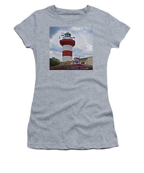 Lighthouse And Rainbow Women's T-Shirt