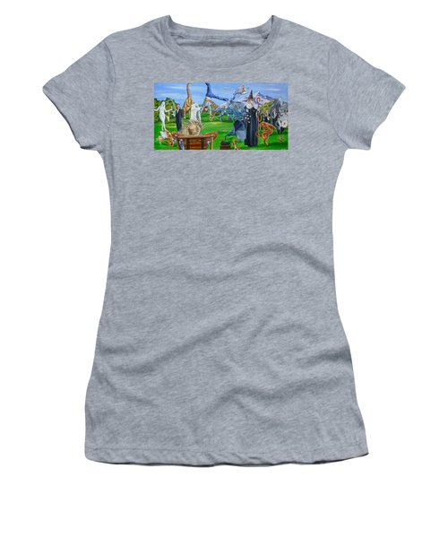 Looking Out My Back Door Women's T-Shirt (Athletic Fit)