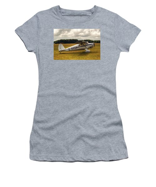 Luscombe 8e Deluxe 2 Seater Plane Women's T-Shirt (Athletic Fit)