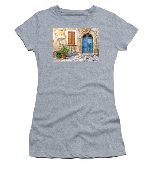 Mediterranean Door Window And Vase Women's T-Shirt (Athletic Fit)