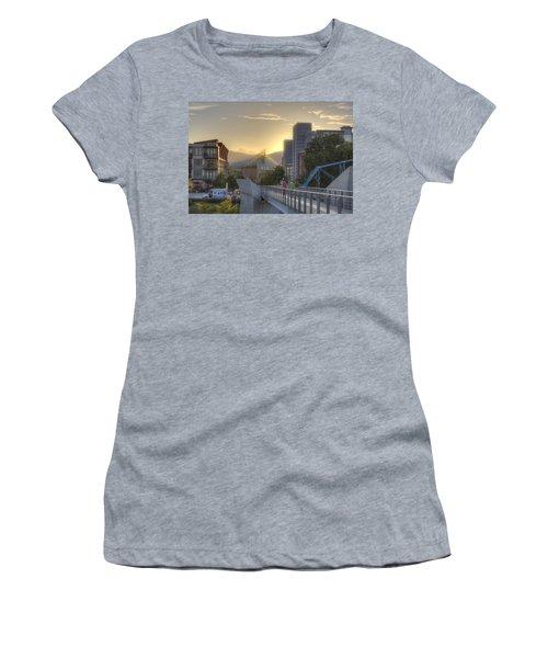 Meeting Bridges Women's T-Shirt (Athletic Fit)