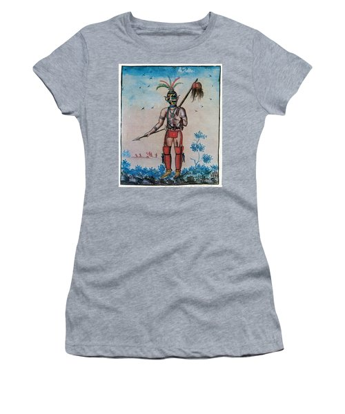 Native American With Scalps Mid-18th C Women's T-Shirt