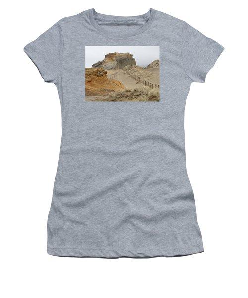 Women's T-Shirt (Junior Cut) featuring the photograph Oregon Sand Dunes by Athena Mckinzie