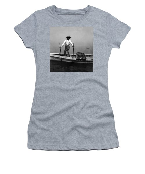 Oyster Fishing On The Chesapeake Bay - Maryland - C 1905 Women's T-Shirt (Athletic Fit)