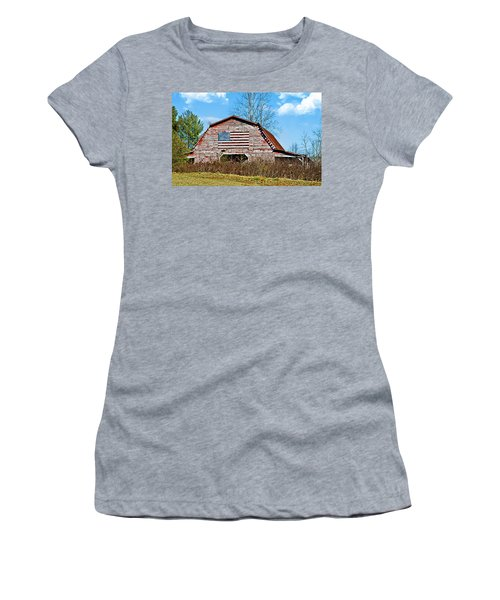 Patriotic Barn Women's T-Shirt (Athletic Fit)