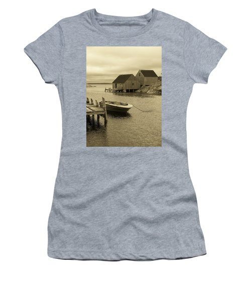 Peggys Cove In Sepia Women's T-Shirt (Junior Cut) by Richard Bryce and Family