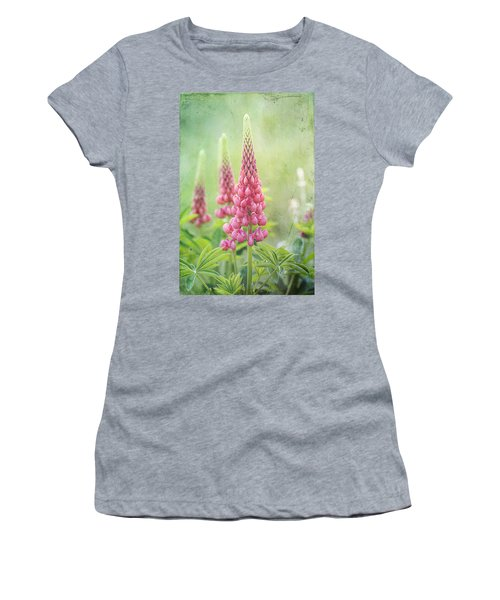 Pink Lupine Women's T-Shirt (Athletic Fit)