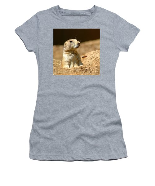 Prarie Dog Bee Alert Women's T-Shirt (Athletic Fit)