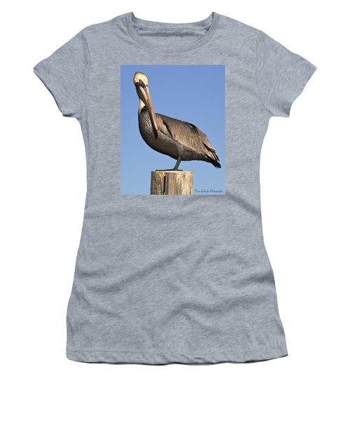 Proud Pelican Women's T-Shirt (Athletic Fit)