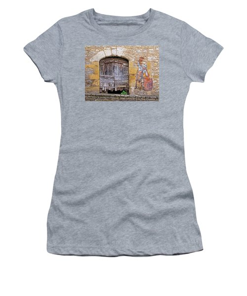 Women's T-Shirt (Junior Cut) featuring the photograph Provence Window And Wall Painting by Dave Mills