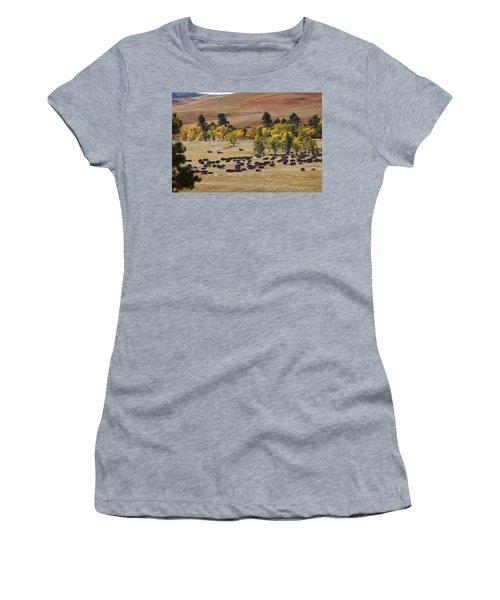 Riders Turning The Herd Women's T-Shirt