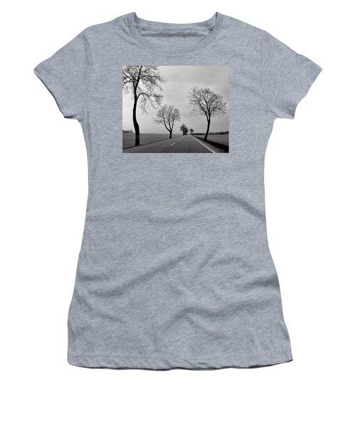 Road Through Windy Fields Women's T-Shirt