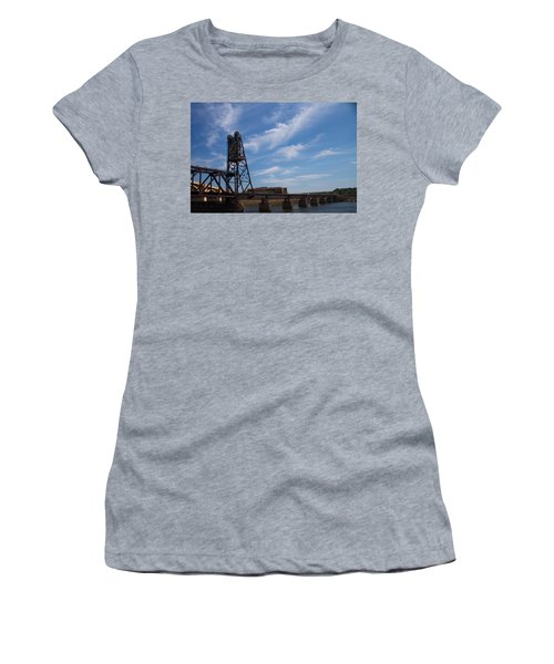 Women's T-Shirt (Junior Cut) featuring the photograph Rusted Bridge by Stephanie Nuttall