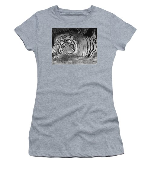 Sleepy Tiger Women's T-Shirt (Athletic Fit)