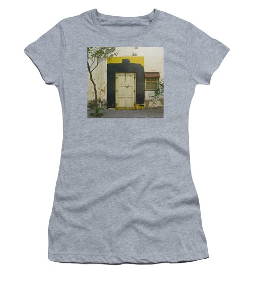 Women's T-Shirt (Junior Cut) featuring the photograph Somebody's Door by David Pantuso