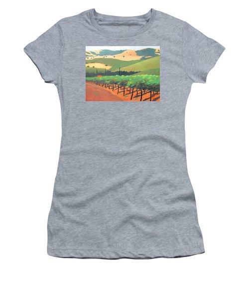 Sonoma Vinyard Women's T-Shirt (Junior Cut) by Gary Coleman