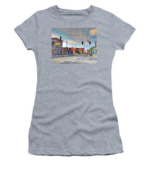 Women's T-Shirt (Junior Cut) featuring the photograph South Main Street Memphis by Lizi Beard-Ward