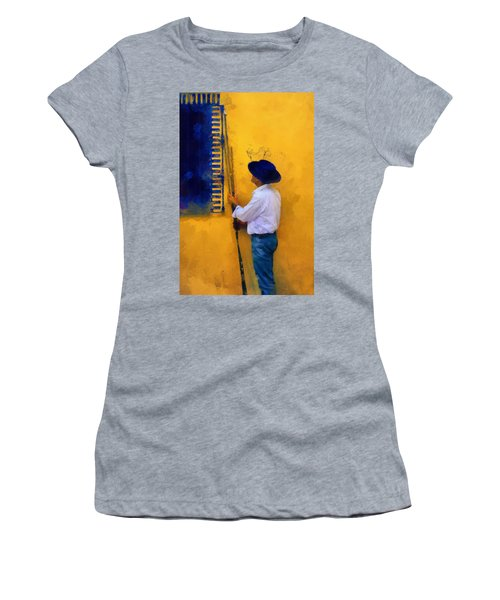 Spanish Man At The Yellow Wall. Impressionism Women's T-Shirt