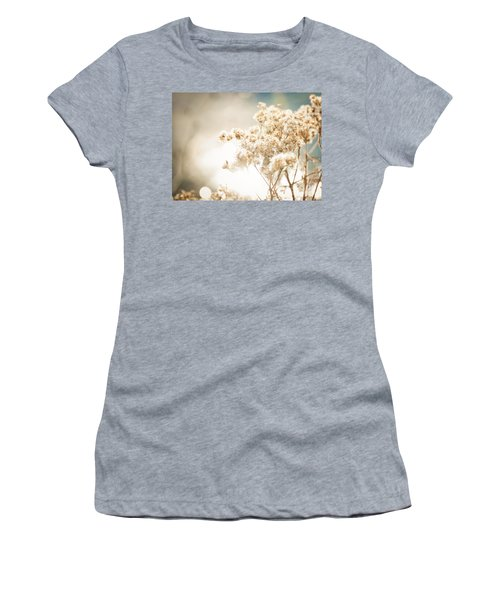Women's T-Shirt (Junior Cut) featuring the photograph Sparkly Weeds by Cheryl Baxter