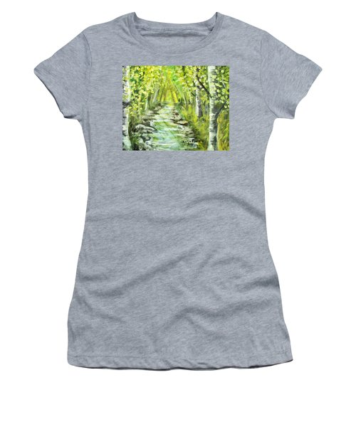 Women's T-Shirt (Junior Cut) featuring the painting Summer by Shana Rowe Jackson