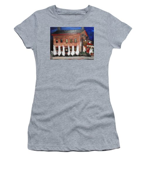 Women's T-Shirt (Junior Cut) featuring the painting The Olde Bryan Inn by Laurie L